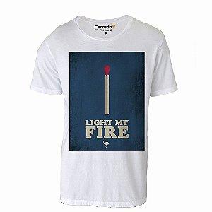 Camiseta Gola Básica Cerrado Brasil - Light My Fire