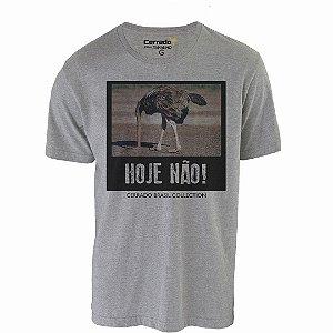 Camiseta Gola Básica Cerrado Brasil - Hoje Não