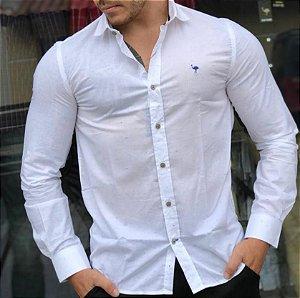 Camisa Cerrado Brasil Branca Com Detalhes Coloridos