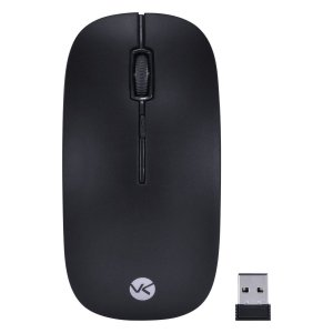 Mouse Sem Fio 2.4 GHZ 1200 DPI Dynamic Flat Preto - DM100