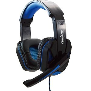 Headset Gamer Bright Preto/Azul - 0467