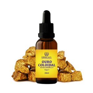 Ouro Coloidal Aurum Metallicum 30ml 10 ppm HerboMel Natural