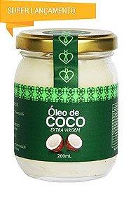 Óleo de Coco Extra Virgem 200ml Cocos nucifera HerboMel Natural