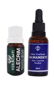 Kit Óleo Essencial Alecrim 100% Puro + Elixir Fitofloral Calmamente 30ml  - HerboMel Natural