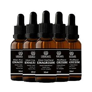 05 Unidades Elixir Fitofloral Emagresim 30ml - HerboMel Natural