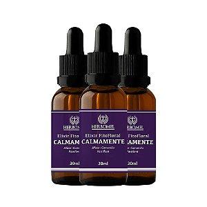 03 Unidades Elixir Fitofloral Calmamente 30ml - HerboMel Natural