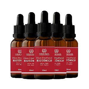 05 Unidades Elixir Fitofloral Biotônico 30ml - HerboMel Natural