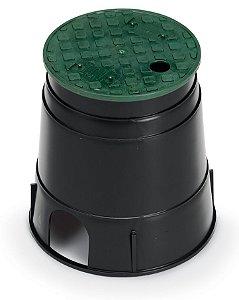 Caixa Para Valvula Solenoide Rain Bird De 6 Modelo PVB Com Tampa Verde
