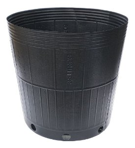 Kit 10 Embalagem Vaso Para Muda 8,5 Litros Plastico Preto