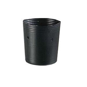 Kit 50 - Embalagem Vaso Plastico Para Muda 01 Litro Pote Preto