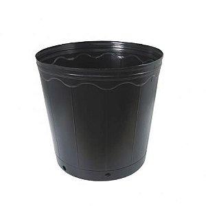 KIT 10 Vasos Plastico Potes Preto Para Mudas 03 Litros