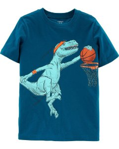 CAMISETA DINOSSAURO ENTERRADA DO BASQUETE
