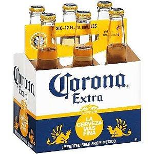 Cerveja Corona Extra - 355 ml - Caixa com 6 unidades