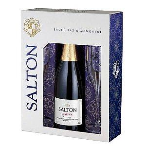 Kit Espumante Salton Demi-Sec - 750 ml + 2 taças