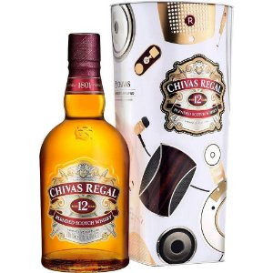 Whisky Chivas Regal 12 anos 1L - Limited Edition By Lstn Sound Co.