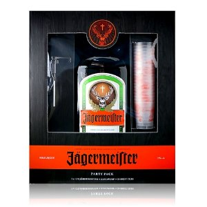 Kit Jägermeister Party Pack - 1,75L + 20 Shot Cups + Válvula Pump