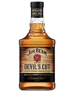 Whiskey Jim Beam Devil´s Cut - 700 ml  * Grátis Whiskey Tumbler