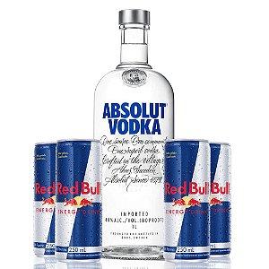 Combo Absolut 1 litro + 4 Red Bull
