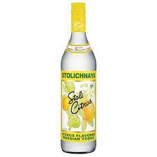 Vodka Stolichnaya Citrus - 750 ml