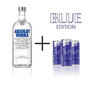 Combo Absolut 1 litro + 3 Red Bull Blueberry
