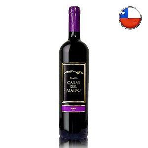 Vinho Tinto Casas Del Maipo Reserva Merlot 2018 (Chileno) - 750ml