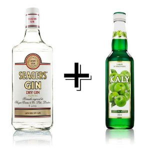 Combo Gin Seagers + Xarope Maçã Verde