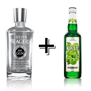Combo Gin Silver + Xarope Maçã Verde