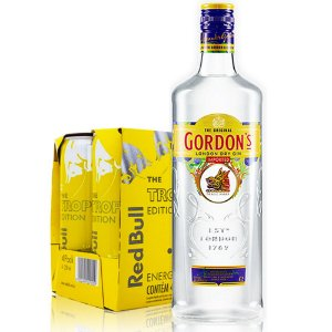 Combo Gin Gordon´s +  4 Red Bull Tropical
