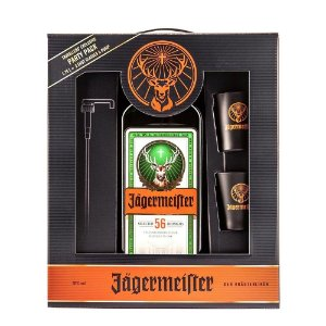 Kit Jägermeister Party Pack - 1,75L + 2 Shot Cups + Válvula Pump