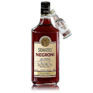 Aperitivo Seagers Negroni + Miniatura Gin Seagers - 980ml / 50ml