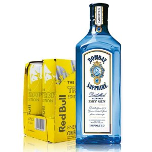 Combo Bombay 1L + 4 Red Bull Tropical