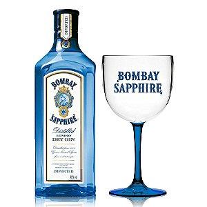 Kit Gin Bombay Sapphire - *1L + Taça bicolor