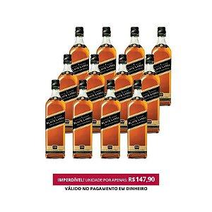 Whisky Black Label - 1L - Cx. / 12 Unid.
