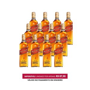 Whisky Red Label - 1L - 1 Cx. / 12 Und.
