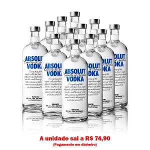 Vodka Absolut 1L - Cx. 12 Unid.