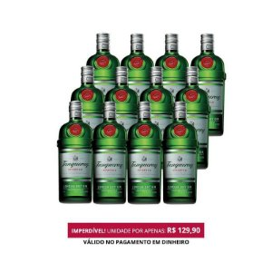 Gin London Tanqueray - 1L - 1 Cx. / 12 Unid.