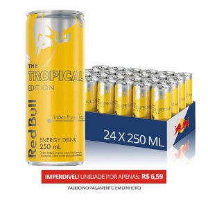 Energético Red Bull Tropical  - 250 ml -  Pack 24 Unid.