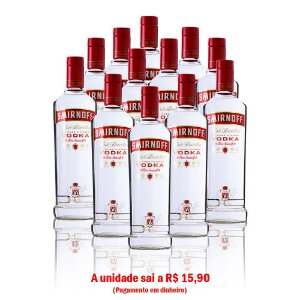Vodka Smirnoff 600 ml - 12 unidades