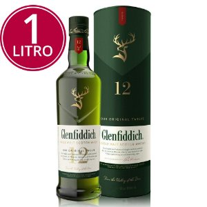 Whisky Glenfiddich 12 Anos - 1 Litro* (Nova Garrafa)