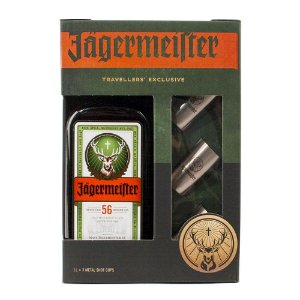 Kit Jägermeister 1L + 3 Shots Metal