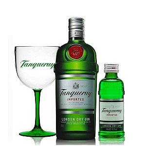 CarnaTrio Tanqueray  Gin 1 Litro + Taça + Mini