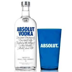 Vodka Absolut - 1L + Copo exclusivo