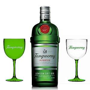 Combo Trio Em Casa: Gin Tanqueray 750ml + 2 Taças - Acrílico