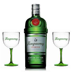Combo Super Trio Em Casa: Gin Tanqueray 750ml + 2 Taças - Acrílico