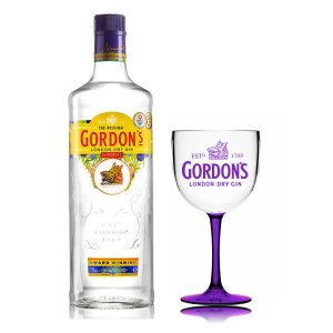 Kit  Gin Gordon´s London Dry - *1L + Taça Bicolor