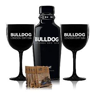 Combo Gin Bulldog + Taça + Kit Especiarias