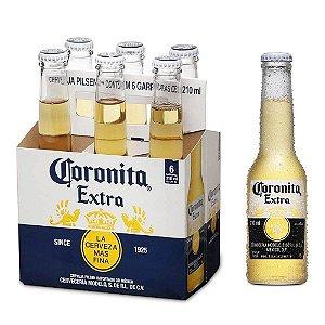 Cerveja Coronita - 210 ml - Caixa com 6 unidades