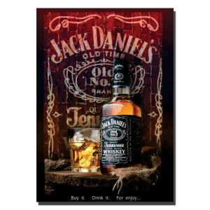 Quadro Jack Daniel's Personalizado - For Enjoy...