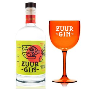 Gin Zuur - 700 ml + Taça Oficial Laranja (Acrílico)