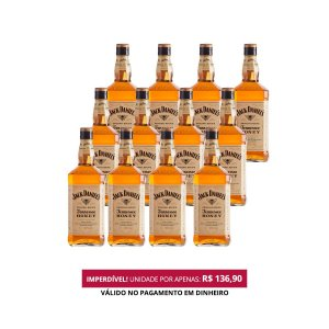 Whiskey Jack Daniel's Honey - 1L - Cx. / 12 Unid.